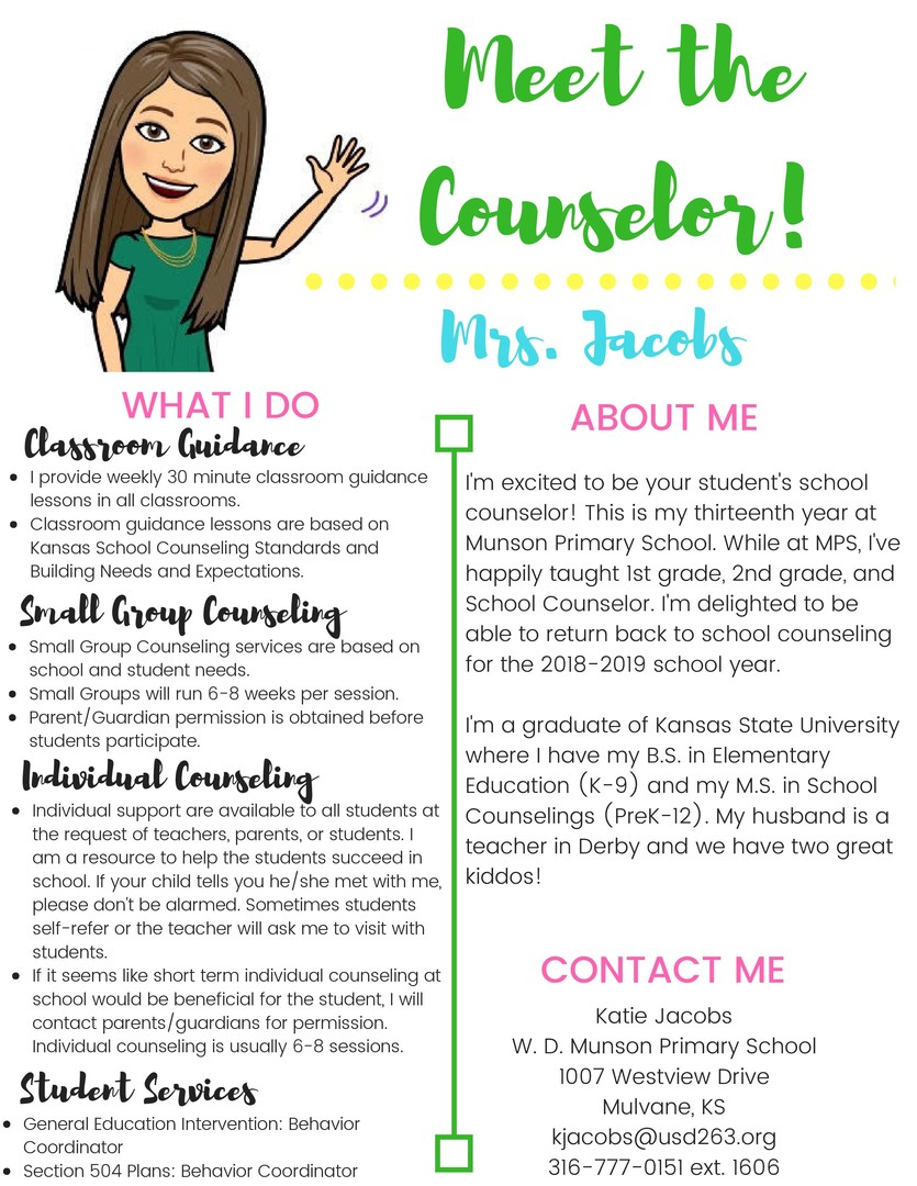 Mulvane School District Usd 263 School Counselor